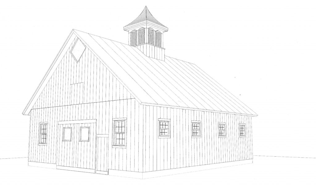 The Alfond Draft Horse Barn Drawing 1024x600